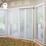 : Patio door blinds with vertical wooden blinds for patio doors with white wooden blinds