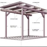 : Pergola plans also building a pergola against a house also decking with pergola kit also small patio pergola ideas