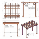 : Pergola plans also gazebo and pergola designs also pergola home design also deck arbor plans