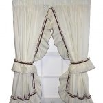 : Ruffled curtains and also linen curtains and also eyelet curtains and also swag curtains and also floral curtains