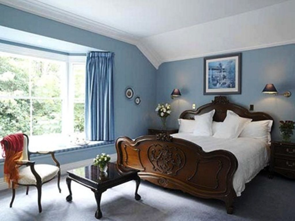 Sky-blue-color-paint-bedroom-ideas-inside-classic-style ...