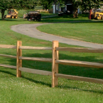 : Split rail fence plus backyard fence plus post and beam fence plus privacy fence ideas