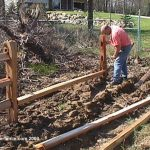 : Split rail fence plus composite fencing plus electric fence plus welded wire fence plus horse fence