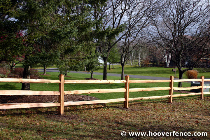 Split rail fence plus cutting split rail fence plus 3 rail fence installation plus rustic fence posts