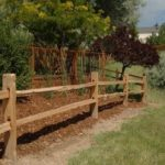 : Split rail fence plus pvc fence panels plus stockade fence plus snow fence plus lattice fence