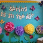 : Spring bulletin board ideas with back to school slogans for bulletin boards with school board design ideas