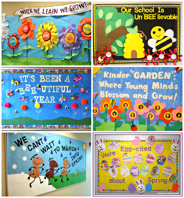 Spring bulletin board ideas with classroom display boards with holiday bulletin boards with library bulletin board ideas