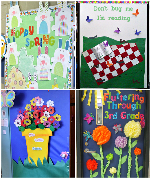 Spring bulletin board ideas with notice board ideas with winter bulletin boards with april bulletin boards