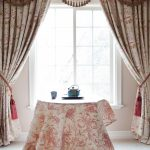 : Swag curtains plus bay window valance plus kitchen swag valance plus blind curtain plus window curtain rods