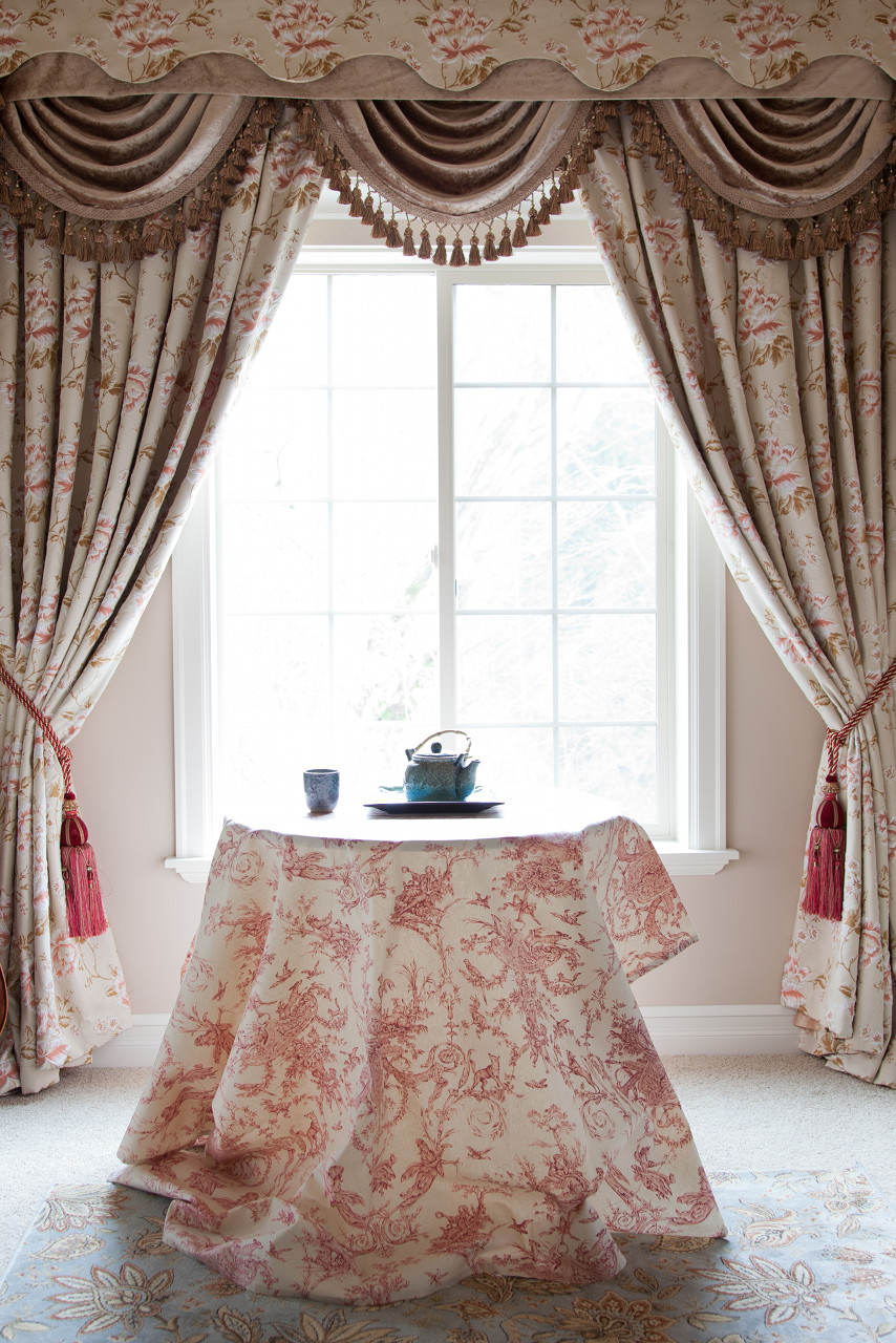 Swag curtains plus bay window valance plus kitchen swag valance plus blind curtain plus window curtain rods