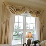 : Swag curtains plus custom valances plus fishtail swag window treatments plus thermal lined curtains