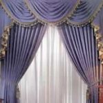 : Swag curtains plus thermal curtains plus plaid curtains plus waverly valances plus plum curtains