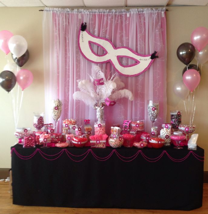 Sweet sixteen decorations and also sweet sixteen personalized favors and also sweet sixteen table centerpieces ideas