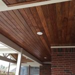 : Tongue and groove ceiling plus knotty pine boards plus tongue groove lumber plus tongue and groove cedar siding