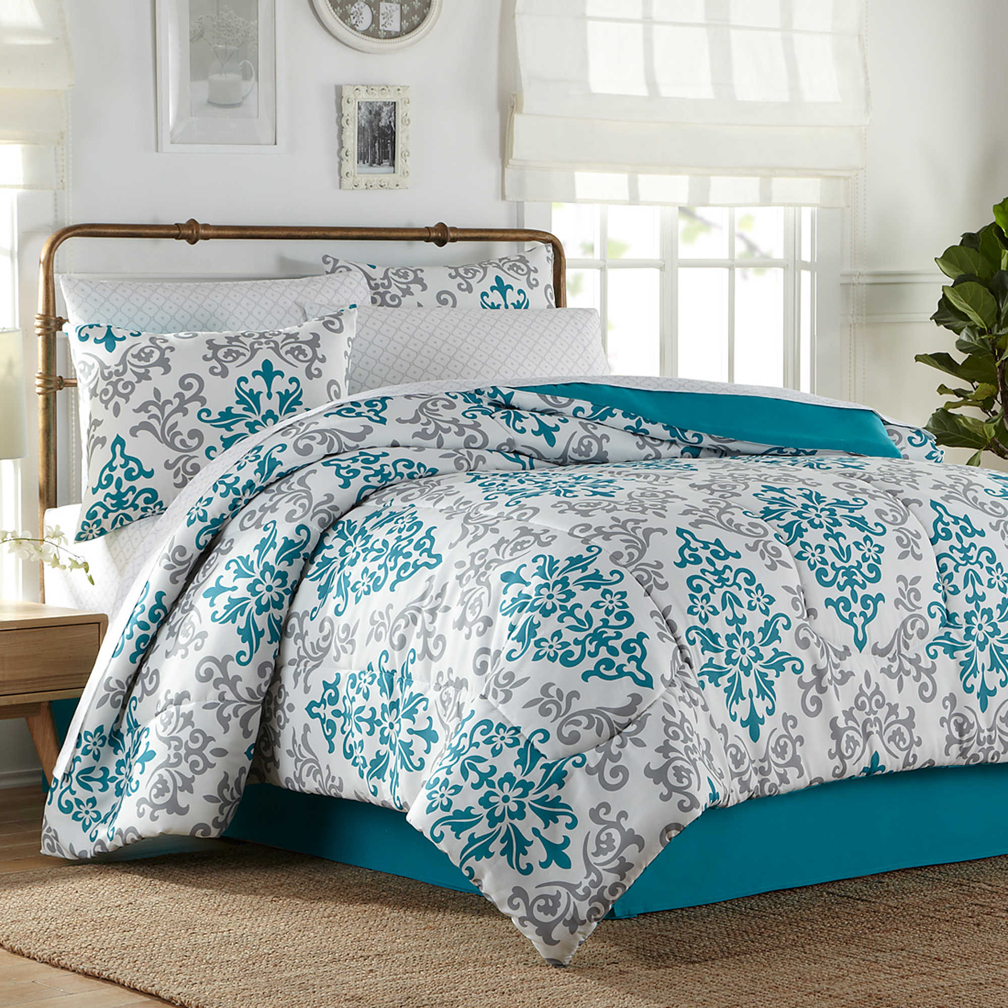 Turquoise bedding and plus turquoise blue comforter and plus chic bedding and plus turquoise floral bedding
