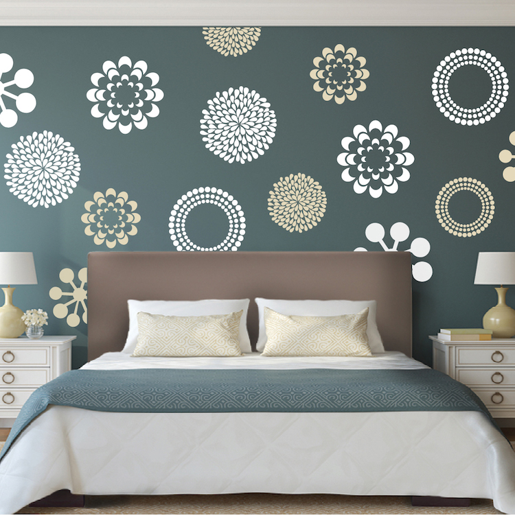 Vinyl wall decals with bedroom wall stickers online with removable wall decals for bedroom with floral wall stickers