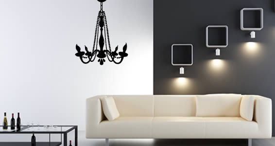 Vinyl wall decals with chandelier wall decal with self adhesive wall stickers