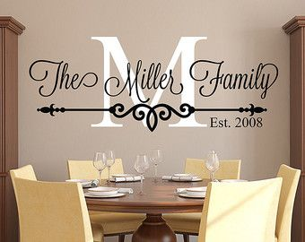 Vinyl wall decals with wall decor quotes with name wall stickers
