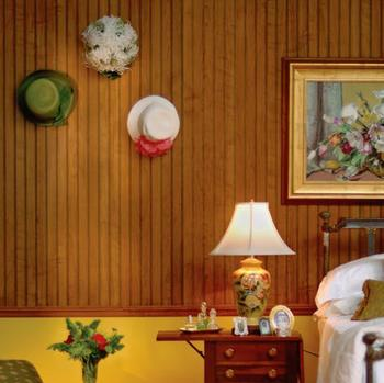 Wall paneling with prefinished wall board with decorative indoor paneling