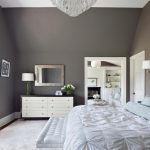 : dark gray wall bedroom color inside white furniture bedroom decorating ideas be equipped chandelier crystals & white table drawer bedroom with wall mirror & wall lithograph