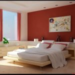 : dark orange bedroom color ideas inside large bedroom decoration with long bench with storage and bedroom set furniture with wall mounted wooden also wooden high gloss finish