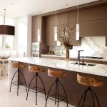 : elegant a kitchen modern with kitchen island eating bar awesome plus pendant lighting for kitchen island modern also equipped with kitchen cabinet brown & also elegant flooring
