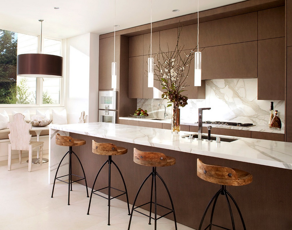elegant a kitchen modern with kitchen island eating bar awesome plus pendant lighting for kitchen island modern also equipped with kitchen cabinet brown & also elegant flooring