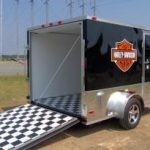 : enclosed motorcycle trailer with bike hauling trailer with in enclosed trailer with tow behind motorcycle trailer