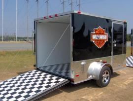 enclosed motorcycle trailer with bike hauling trailer with in enclosed trailer with tow behind motorcycle trailer