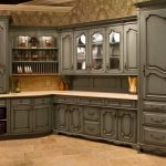 : gray Kitchen locker Can decoration as added cream laminate countertop as a pedestal put Box putting seasoning and gray kitchen closet to put a kitchen utensil also vintage crown moulding