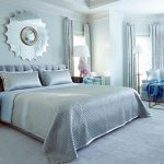 : light blue bedroom color ideas inside elegant master bedroom design be equipped argente mirrored bedside table drawer and sunburst mirror bedroom decorative also curtain ideas