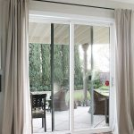 : patio door curtains also deck door curtain ideas also sliding door curtain rod
