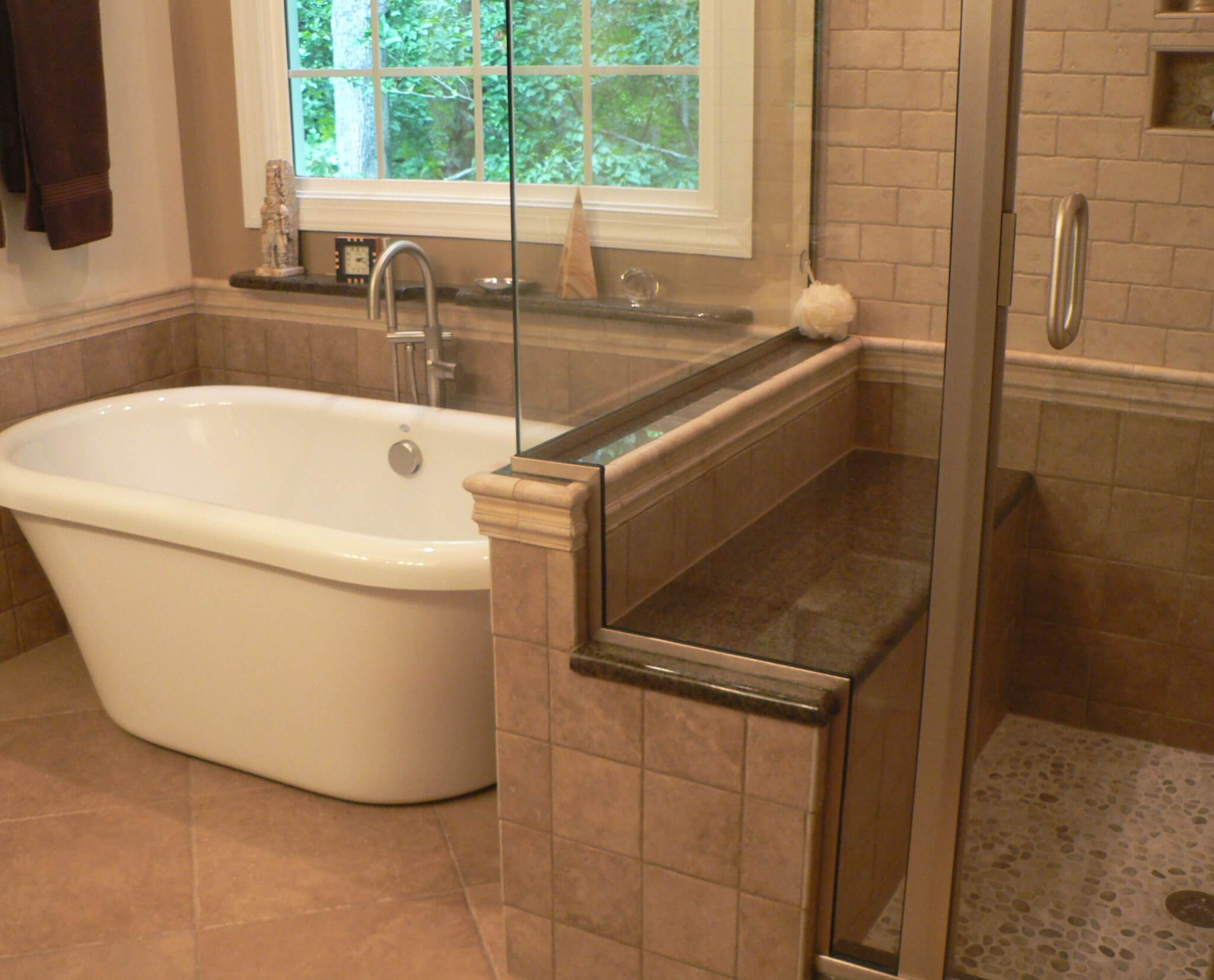 Small Bathroom Remodel With Clawfoot Bathtub Shower And