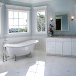 : white marble flooring for concept large bathroom remodel ideas be equipped with colwyn cast iron slipper clawfoot tub and white bathroom vanities and also bathroom cabinet sink