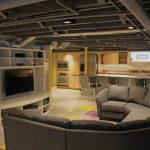 : Basement ceiling ideas with drop down ceiling with basement ceiling tiles with ceiling planks