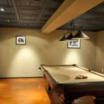 : Basement ceiling ideas with exposed basement ceiling ideas with basement ceiling systems with basement bar designs