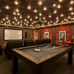 : Basement ceiling ideas with wood ceiling panels with basement drop ceiling with basement renovation idea
