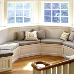 : Bay Window Bench with bay window storage unit with large storage bench seat with curved sofa for bay window