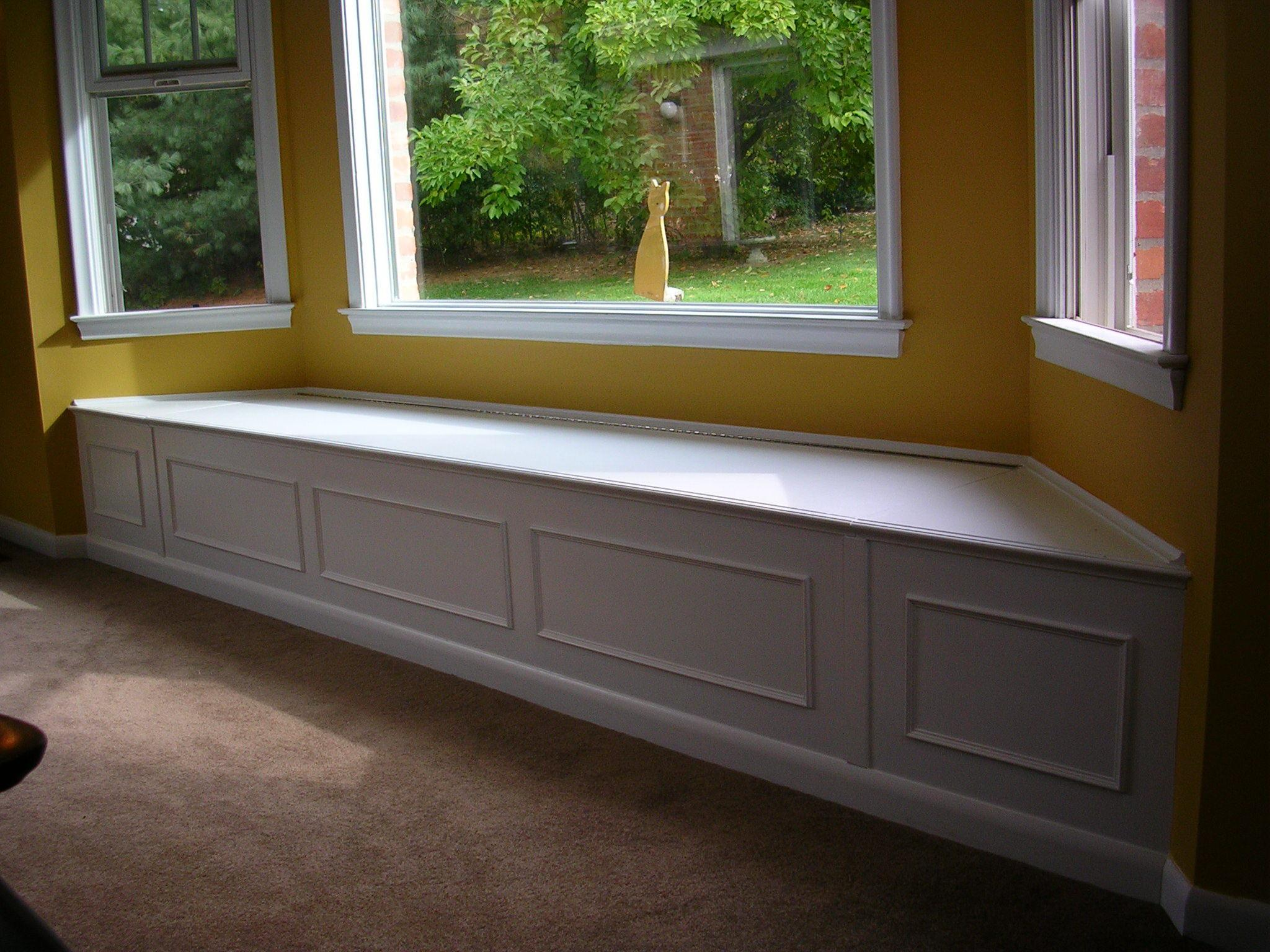 Bay Window Bench with ready made banquette seating with bench in front of window with bay window cushions for sale