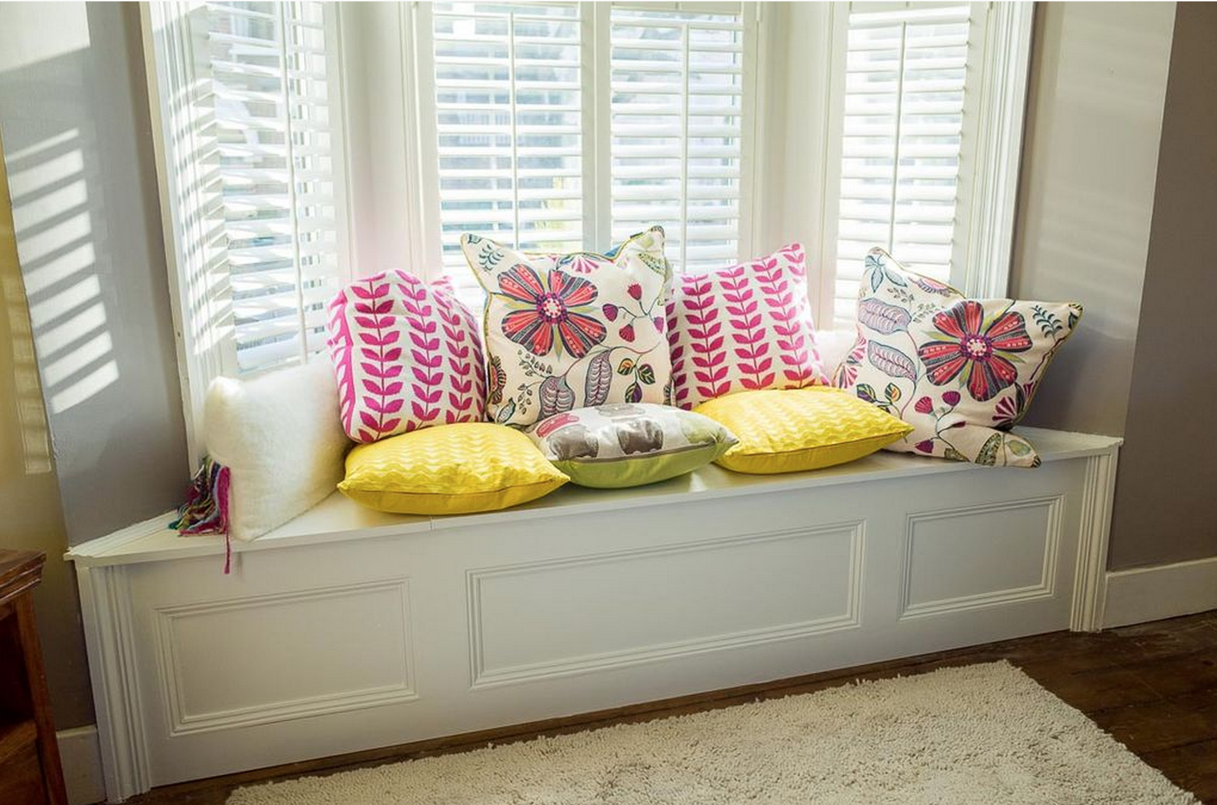 Bay Window Bench With Under Bay Window Storage With Build Your Own