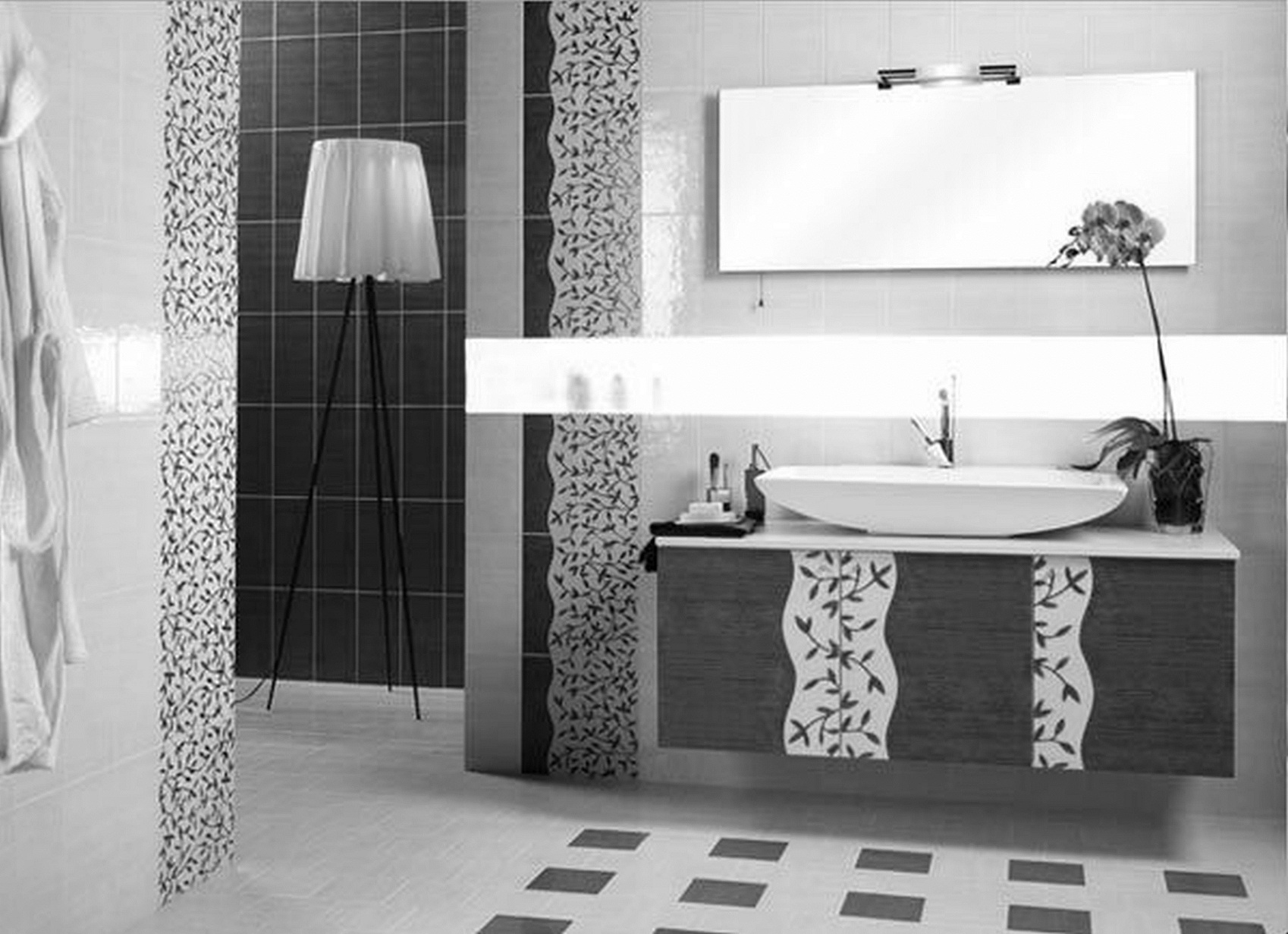 Black Bathroom Floor Suitable With Black Bathroom Floor Tiles
