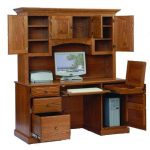 : Computer desk with hutch be equipped sauder corner computer desk be equipped small corner computer desk with file drawer