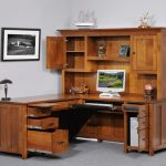 Corner Desk with Hutch for Small Working Spaces