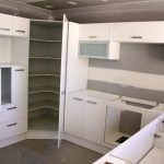 : Corner pantry cabinet and also small larder cupboard and also corner larder unit and also narrow kitchen pantry