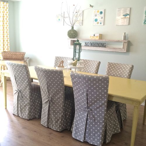 Dining room chair slipcovers and also arm chair slip covers ...