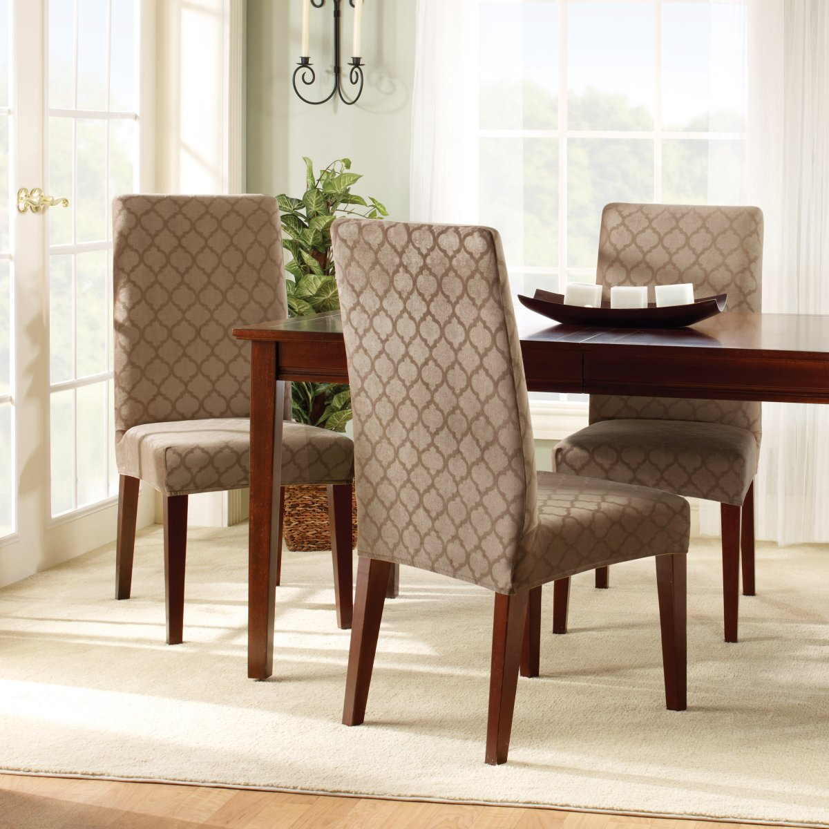 Dining Room Chair Slipcovers And Also Linen Covers With Arms Furniture