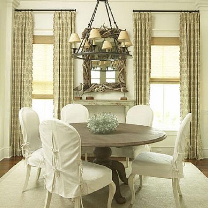 Curved Back Dining Chair Slipcovers, Curved Back Dining Room Chair Covers