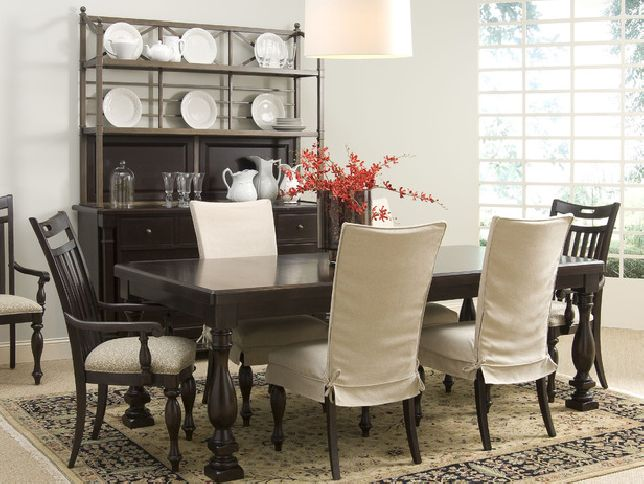 Dining room chair slipcovers and also wingback chair ...