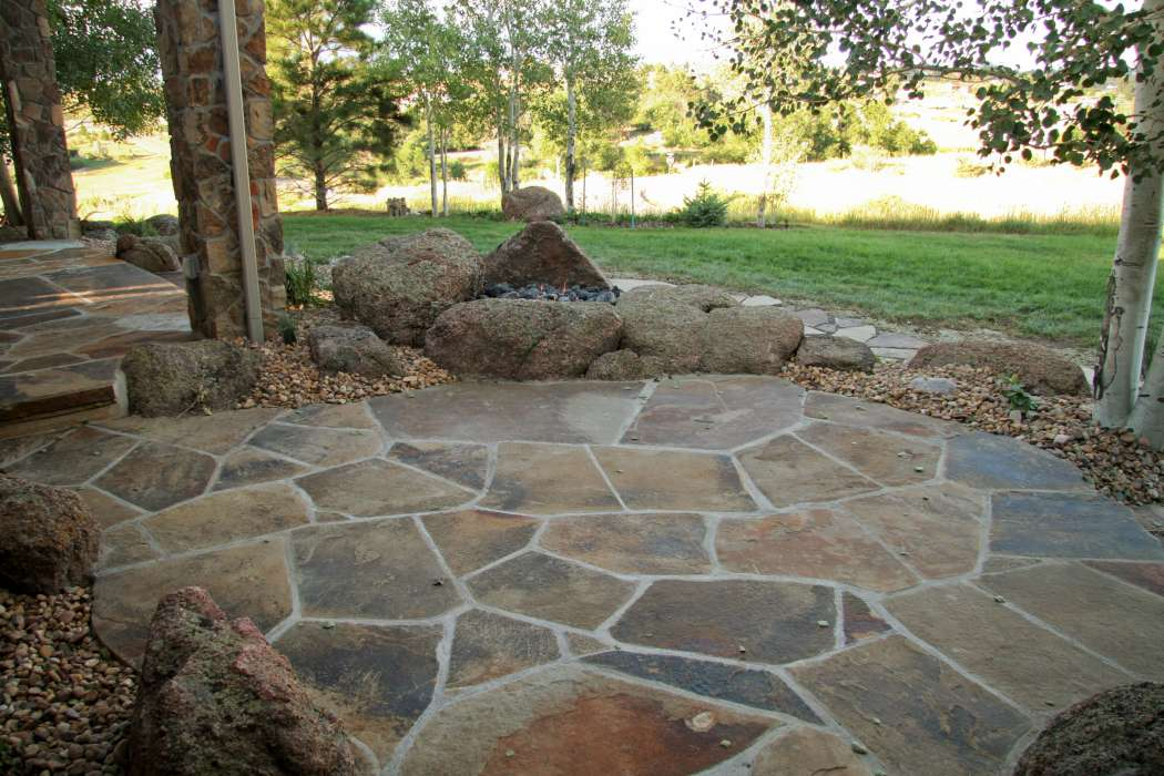 Flagstone patio you can add base rock for patio you can add red cement pavers you can add slate patio pictures
