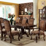 : Formal dining room sets with contemporary round dining table with oak dining chairs with contemporary dining room furniture